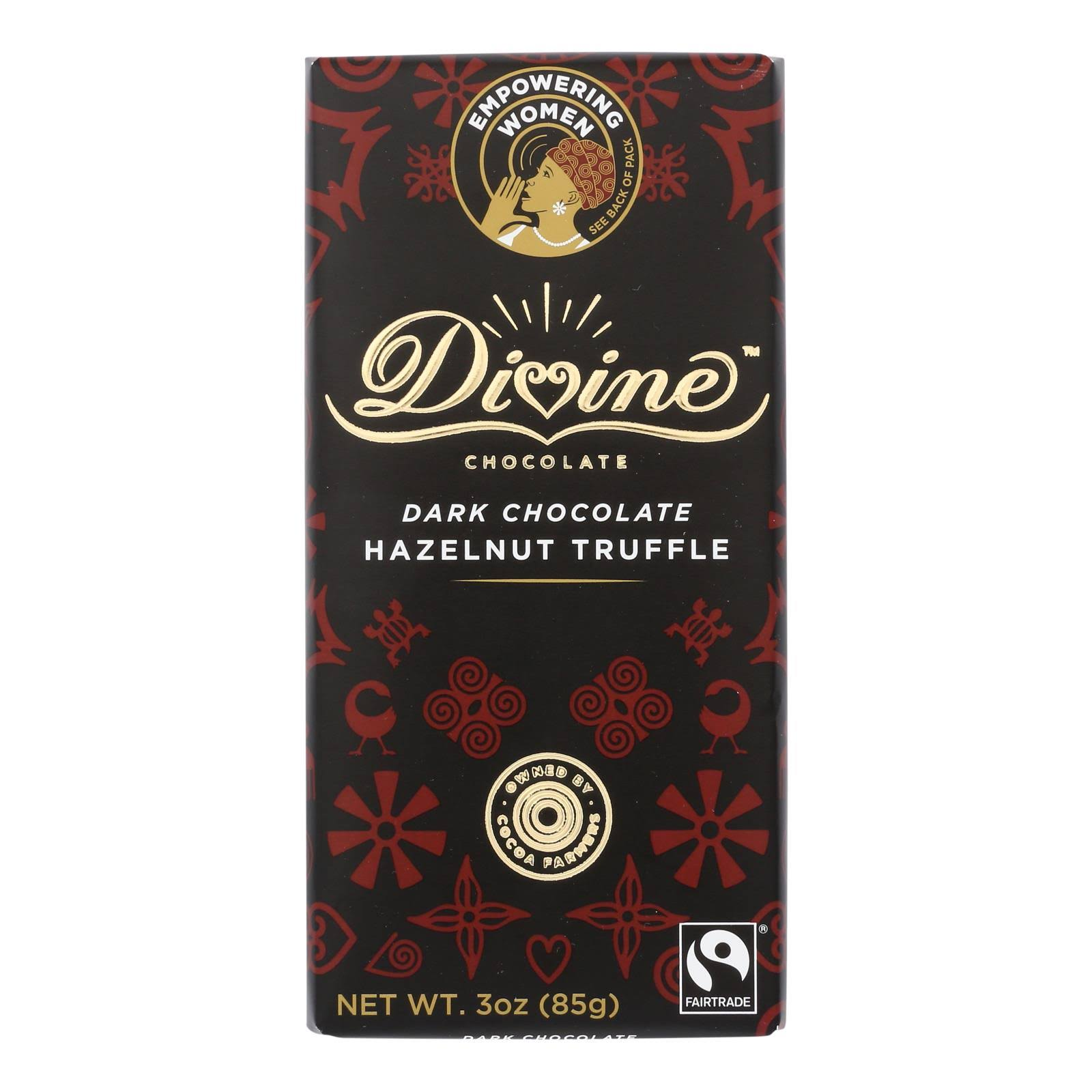 Divine Dark Chocolate Hazelnut Truffle, 3 oz