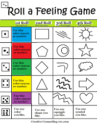 Art Therapy Roll A Feeling Game Board Printable Below