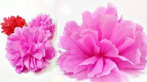 Tissue Paper Flowers Peonies DIY Peonyrose Flower Decorations Tutorial Easy For Kids Making
