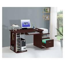 Techni Mobili Computer Desk With Storage by Furniture U0026 Rug Techni Mobili Graphite U0026 Frosted Glass L Shaped