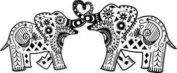 Printable Elephant Mandala Coloring Pages Elephants