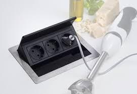 prise encastrable plan de travail cuisine evoline bloc prise escamotable ou encastrable pas cher achat