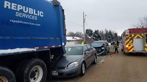 100 Garbage Truck Accident Two Injured In Crash Involving Van Car Garbage Truck News