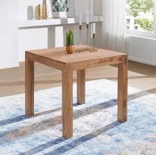 finebuy esstisch massivholz akazie 80 x 80 x 76 cm esszimmer tisch design küchentisch modern landhaus stil holztisch quadratisch dunkel braun