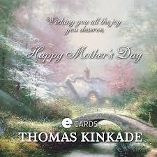 Thomas Kinkade Christmas Tree Teleflora by Hallmark Thomas Kinkade Mother U0027s Day Ecard Beautiful Artwork