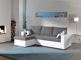 canapé gris et blanc pas cher bestmobilier canapé d angle arizona convertible modulable droite