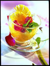 recette gaspacho d ananas aux fruits rouges