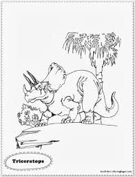 Triceratops Dinosaur Coloring Pages Realistic