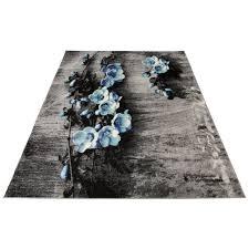 my home teppich freya rechteckig 8 mm höhe mit blumen design wohnzimmer