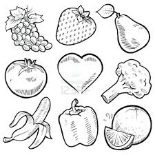 Healthy Eating Coloring Pages For Kindergarten Fruits Vegetables Fruit And Unhealthy Food Plate Page Full