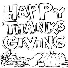 Printable Thanksgiving Coloring Page Free Pages Happy
