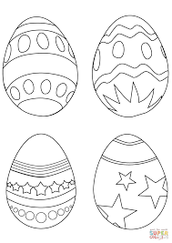 Click The Simple Easter Eggs Coloring Pages To View Printable