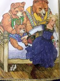 Goldilocks And The Three Bears Have Awakened From Her Sleep Found Papa Bear