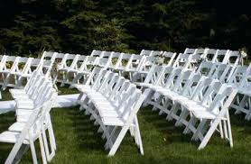 White Garden Chairs Wedding Outside Image Design