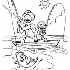 Boy Fishing Coloring Pages Page Hat Stock Photos Images Amp