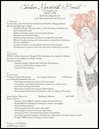 Fashion Resume Example More