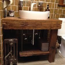 Hand Crafted Rustic Bath Vanity Reclaimed Barnwood Bathroom Lighting
