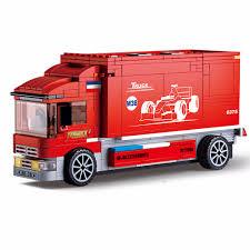 Dropshipping For Sluban 2IN1 Technic F1 Formula Racing Car Transport ...