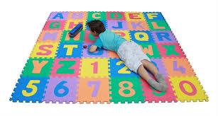 TLCmat Soft Alphabet & Number Puzzle Play Mat Jigsaw 36pcs A Z