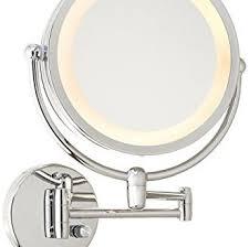 peachy design lighted makeup mirror wall mount best 10x bronze