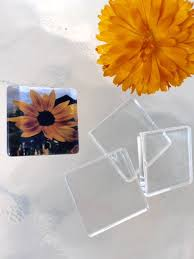 1 inch 100 clear flat smooth glass tiles squares pendant