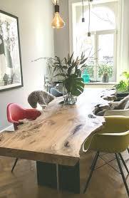 esstisch unverleimt massiv holz table baumtisch tisch