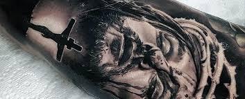 Jesus Arm Tattoo Designs For Men