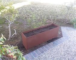 Rustic Metal Planter Box