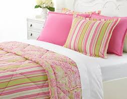 bedding set Amazing White And Green Bedding Pink Green
