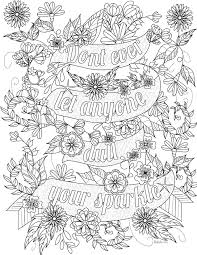 Free Inspirational Quote Adult Coloring Book Image From LiltKids For Printable Pages Adults