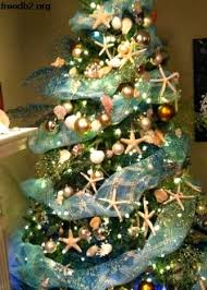 Beach Themed Christmas Tree Image Home Garden And Rtecx Com Decorating