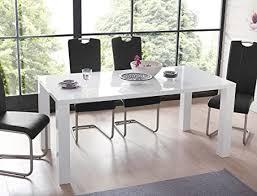 expendio esstisch weiss hochglanz 120 160 x90x75cm ausziehbar esszimmertisch tisch synchronauszug esszimmertisch küchentisch tisch 44848410