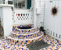 Frontgate Christmas Tree Lights Problems by Keywest Porch Adorned With Creative Broken Cuban Tile And