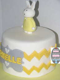 Bunny Rabbit Cake With Hand Cut Chevron Pattern CakeCentral