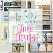 20 Beautifully Organized Linen Closets | The Happy Housie Bathroom Kitchen Cabinets Fniture Sale Small 20 Amazing Closet Design Ideas Trendecora 40 Open Organization Inspira Spaces 22 Storage Wall Solutions And Shelves Cute Organize Home Decoration The Hidden Heights Height Organizer Shelf Depot Linen Organizers How To Completely Your Happy Housie To Towel Kscraftshack Bathroom Closet Organization Clean Easy Bluegrrygal Curtain Designs Hgtv Organized Anyone Can Have Kelley Nan