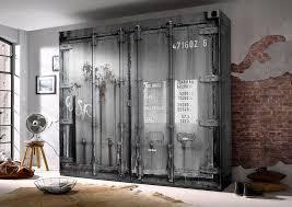 kleiderschrank korpus und front in container optik kaufen otto