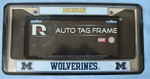 MICHIGAN WOLVERINES NCAA Chrome Car Truck License Plate Tag Frame ...
