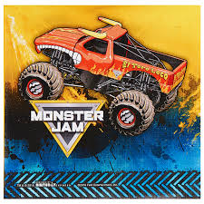 100 Monster Truck Theme Party Jam Supplies 60 Pack Lunch Napkins Walmartcom
