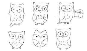 Cute Easy Way To Draw Owls