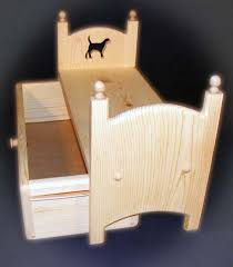 stackable doll trundle bed with dog american made by acraftersnook
