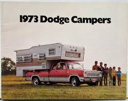 1973 Dodge Camper Full Line Color Sales Brochure Original