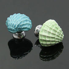 Real Seashell Cabinet Knobs by Beach Cabinet Pulls Ebay