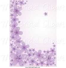 Bridal Clipart of a Purple Background of Flowers