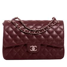 chanel burgundy quilted caviar jumbo classic double flap bag