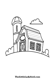 Wooden House Coloring Pages