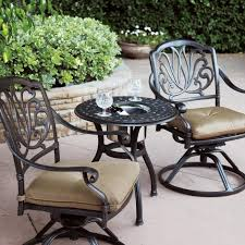 Darlee Elisabeth 3 Piece Cast Aluminum Patio Bistro Set With Swivel Rocker  Chairs - End Table With Ice Bucket Insert Americana Wicker Bistro Table And Chairs Set Plowhearth Royalcraft Cannes Brown Rattan 3pc 2 Seater Cube Breakfast Ceylon Outdoor 3piece By Christopher Knight Home Hampton Bay Aria 3piece Balcony Patio Sirio Valentine Swivel Ellie 3 Piece Folding Fniture W Round In Dark Outdoor Cast Alinium Rattan Ding Sets Georgina With Cushions Wilko Effect