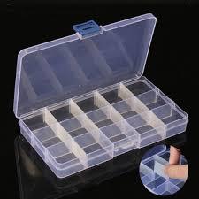 2pcs 15 cellules boîte de rangement en plastique compartiment