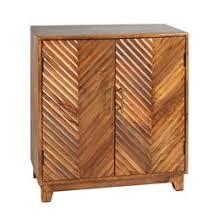 Chevron Wood 2 Door Storage Cabinet