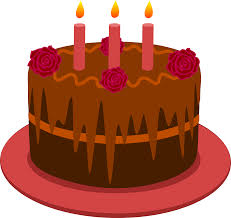 Cake clipart 2 candle Pencil and in color cake clipart 2 candle