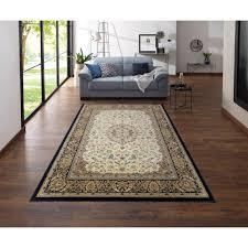my home teppich nevio rechteckig 8 mm höhe orient optik mit bordüre wohnzimmer